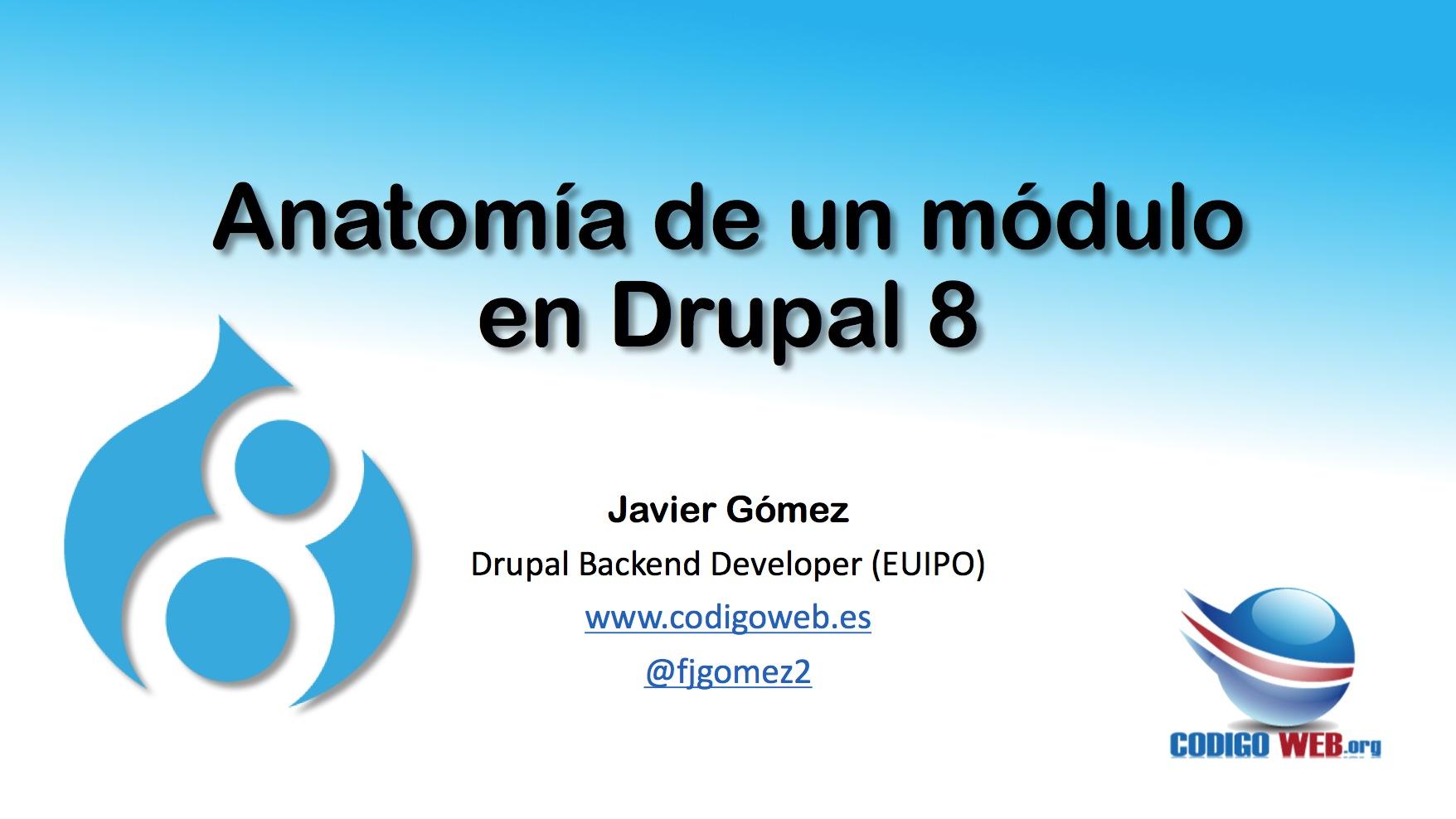 Anatomia de un módulo en Drupal 8